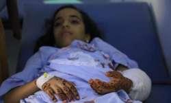 إصابة طفلة بجروح بليغة أثر قصف الحوثي على أحياء تعز